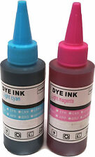 RICARICA STAMPANTE bottiglie di inchiostro per cartucce ciss LUCE CIANO LIGHT MAGENTA inchiostri
