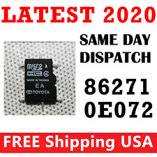 TOYOTA Navigation Micro SD Card Map Data LATEST UPDATE OEM 86271 0E072 0E072
