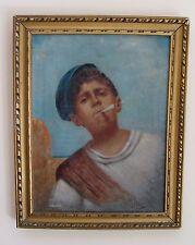 ANTICO  DIPINTO AD OLIO SU TELA DI ACHILLE PETROCELLI  (1861-1929)  47X37CM