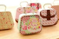 Wedding Bag-shaped Iron Tin Jewelry Small Candy Jars Storage Gift Boxes Bag Case