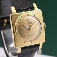 1950's ECCENTRIC UNIVERSAL GENEVE 18K SOLID YELLOW GOLD AUTOMATIC MEN'S WATCH
