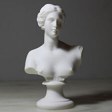 Aphrodite Goddess of Love Greek Roman Head Bust Statue Alabaster Handmade 5.9""