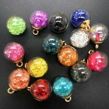 10PCS Mini Glass Bottles with Beads Pendant Ornaments DIY Jewelry Making Decor