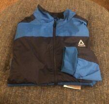 Nwt Reebok Baseball Coaches Jacket Mens Big&Tall Size 5XL (4XL) Blue/Blue A10