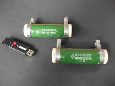 900R Ohm Cathode Resistors Helix Wound 100Watt for 300B WE, matched PAIR NEW