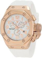 Swiss Legend Mens 10541-YG-02-WA Trimix Diver Chronograph Watch WHITE/ ROSE GOLD