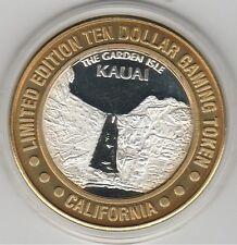 1996 California Hotel Kauai Waterfall GDC .999 Fine Silver $10 Casino Token