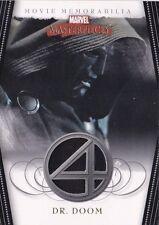 2008 Marvel Movie Masterpieces Fantastic Four Movie Worn Costume Card Dr. Doom