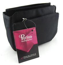 Periea Handbag Organizer Insert Liner 9 Pockets - Tegan Black Small