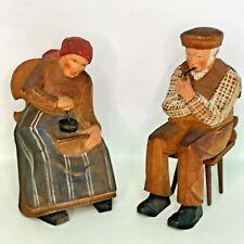 Lot of 2 Anri Wood Figurines