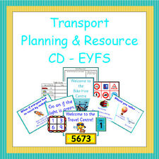 Transport Planning and Resource Pack on CD, EYFS, Reception, Teaching, NQT