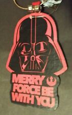 DISNEY STAR WARS DARTH VADER CHRISTMAS DOOR KNOB HANGER MERRY FORCE BE WITH YOU