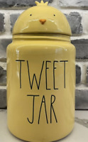 New Rae Dunn Large Yellow TWEET JAR Canister Chick Top BRAND NEW!