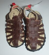Sz 8 Carter's Julian Little Boy's Casual Fisherman Sandal Shoes Brown Easy-Close