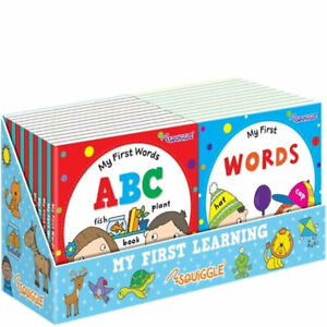 Early Learners Board Book - Learning Toddlers Babies Children Fun ABC Words
