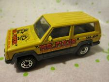1986 Matchbox Yellow Jeep Cherokee Mr. Fixer Home Appliance Repair Truck 1:58
