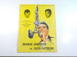 INGEMAR JOHANSSON vs FLOYD PATTERSON II Boxing Program 1960 Sports Boxers VTG NR