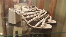 "Street Feet Womans New Size 7 White Platform Sandal Shoes.Apprx 3"" Heel."