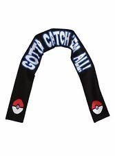 "Pokemon Go Knit Scarf Pokeball Gotta Catch 'Em All Unisex Large 76"" Brand New"