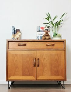 Vintage Retro G Plan Sideboard Cabinet Scandi Teak Hairpin legs Mid century...