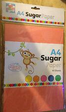 A4 Kids crear Color azúcar papel Arte Manualidades 60 Hojas Por Paquete De 5 Colores por Pk