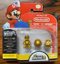 World of Nintendo 1-3 Gold Series Mario Super Mushroom Goomba Micro Land Nsmb2