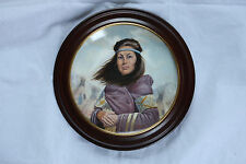 GREGORY PERILLO LIMITED EDITION COLLECTORS PLATE SACAJAWEA IN WOOD FRAME