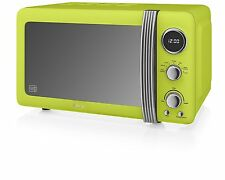 BRAND NEW: Swan SM22030LN Retro Digital Microwave 20L 800w Lime Green