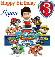 PAW PATROL Handmade  Personalised Birthday Card  ANY NAME-  ANY AGE