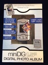"Mini Dig 1.5"" Digital Photo Album Keychain  8Mb Storage Time Date Calendar NIB"
