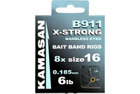 KAMASAN B911 X-STRONG HOOKS TO NYLON **CARP BAIT BAND RIGS** BARBLESS  @ TTB