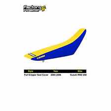 2004-2006 SUZUKI RMZ 250 Blue/Yellow FULL GRIPPER SEAT COVER BY Enjoy MFG