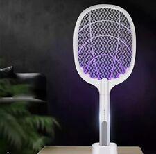 Raquette Électrique - Moustique/Mouche avec Lumière UV LED Rechargeable USB