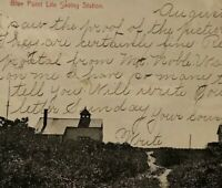 Life Saving Station Blue Point Long Island Suffolk County NY 1907 Post Card Vtg