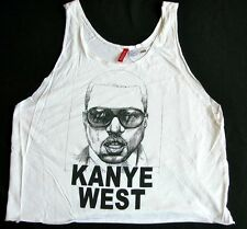 KANYE WEST Divided White Graphic Portrait Tank T Shirt M Sz 8. yeezy
