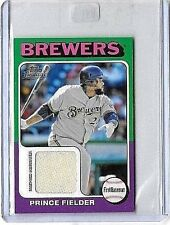 PRINCE FIELDER 2011 TOPPS MINI GAME USED JERSEY