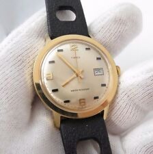 """TIMEX,1972,Manual Wind.""""Round Date/just Slotted Rally"""" CLASSIC! MEN'S WATCH,712"""
