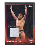 WWE Daniel Bryan 2015 Topps Chrome Event Used Shirt Relic Card Grey