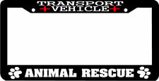 TRANSPORT VEHICLE animal rescue pet dog cat woof License Plate Frame