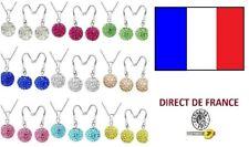 Lot 10 parures shamballa Boucles oreilles pendantes et colliers revendeur bijoux
