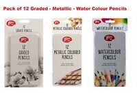 New Amazing Artist Pencils Metallic-Water colour-Graded 12 Pack Combinations