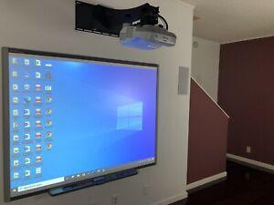 Interactive Smart Board SB660 and Epson Short throw projector BrightLink 470W