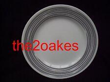 "4 Corelle Joy Mangano Strokes Of Color Platinum Silver 8-1/2"" Lunch Plates Salad"