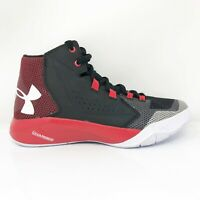 Under Armour Boys Torch Fade 1274065-002 Black Red Basketball Shoes Size 6Y