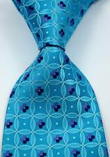 New Classic Solid Turquoise Blue Purple JACQUARD WOVEN Silk Men's Tie Necktie