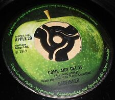 """BEATLES COME AND GET IT/ROCK OF ALL AGES  7"""" VINYL COMBINED POSTAGE APPLE LABEL"""