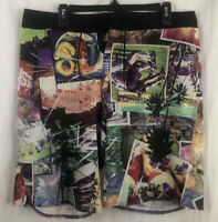Mens Reebok Crossfit Shorts Multi-Color Graphic Print Size 34 Inseam - 10 Inches