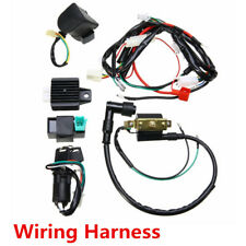 Motorcycle Ignition Key Coil Wiring Harness Kit For 50cc 110cc 125cc Dirt Bike