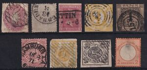GERMAN STATES LOT OF 9 DIFFERENT STAMPS !! H100