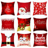 Christmas Linen Pillow Case Throw Cushion Cover Pillowcase Sofa Home Decorative